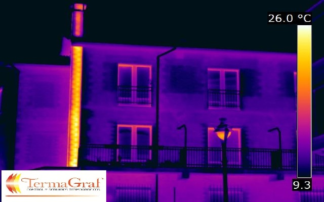 Termografía aplicada a la edificación. Chimenea