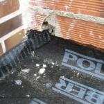 Reparación de cubiertas. Encuentro en esquina