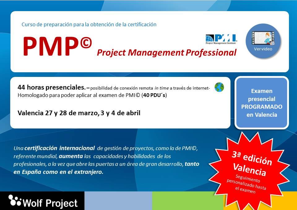 Curso preparación PMP en Valencia