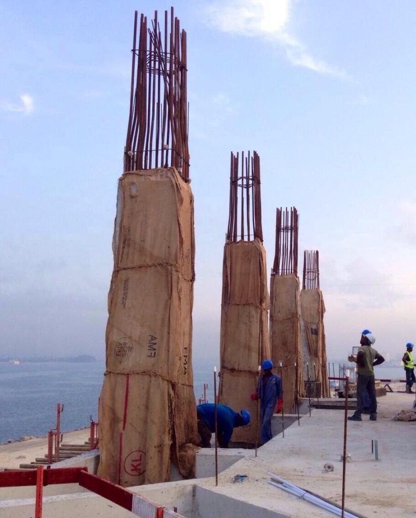 Curado de pilares