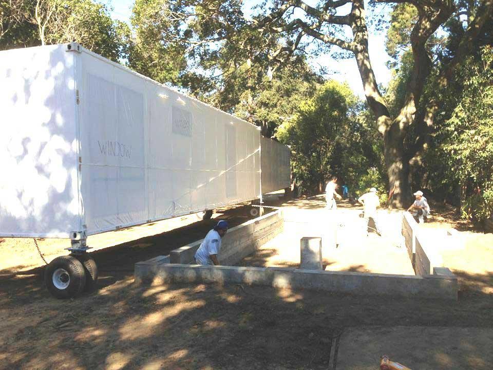Cimentación para colocar vivienda construida con ISO containers