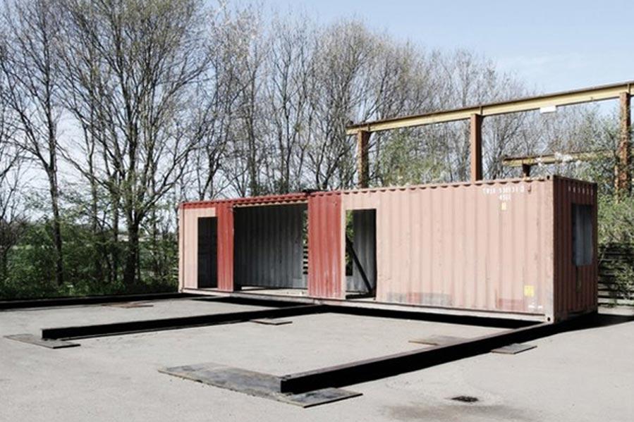 Inicio de construcción de vivienda con ISO container