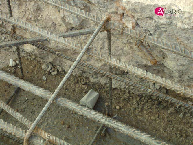 Calzos separadores para hormigón volcados