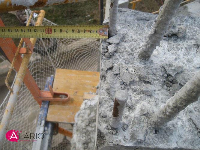 Importancia de los calzos separadores en pilares de hormigón