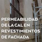 Permeabilidad de la cal en revestimientos de fachada