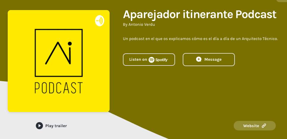 Podcast Aparejador Itinerante