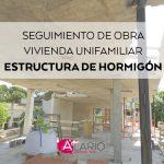 Estructura de hormigón en vivienda unifamiliar