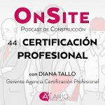 Certificación profesional para técnicos de construcción
