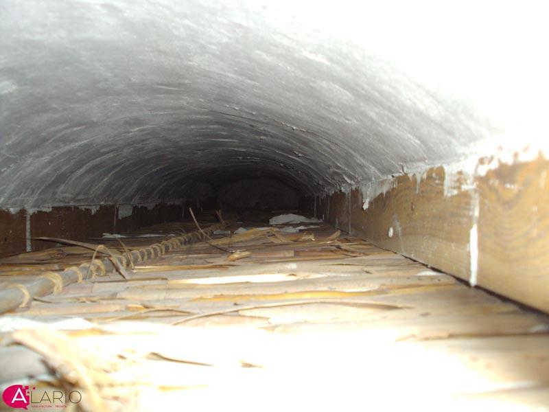 Comprobación forjado de madera sobre falso techo