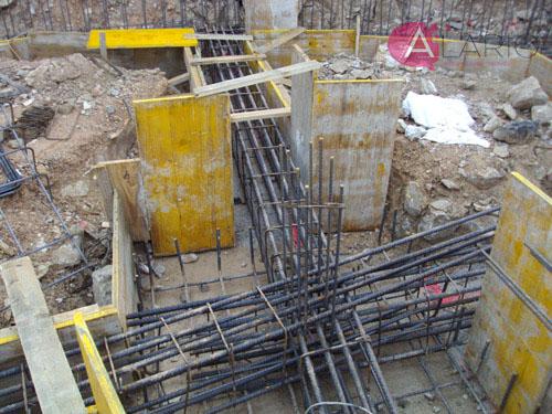 Construcción de Vivienda Unifamiliar Aislada. Encofrado de cimentación