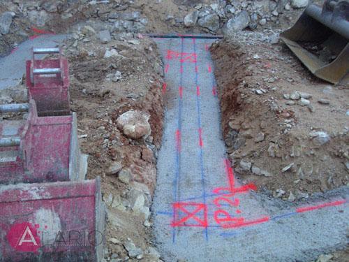 Construcción de Vivienda Unifamiliar Aislada. Replanteo de cimentación