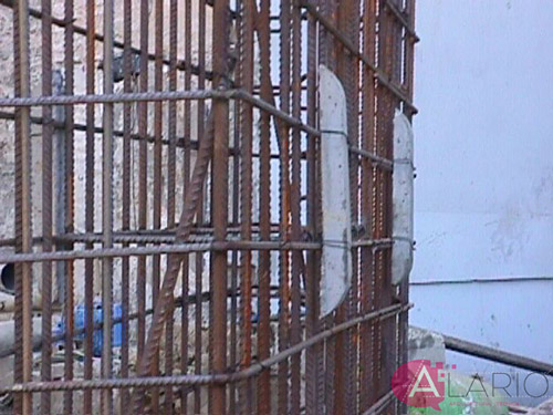 Ejecución de muros pantalla. Separadores de hormigón en muro pantalla