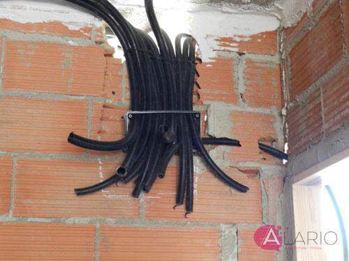Cajas eléctricas. Construcción de vivienda unifamiliar
