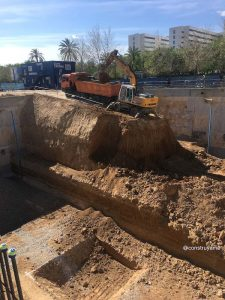 Hormigonado masivo losa cimentación_ excavación previa