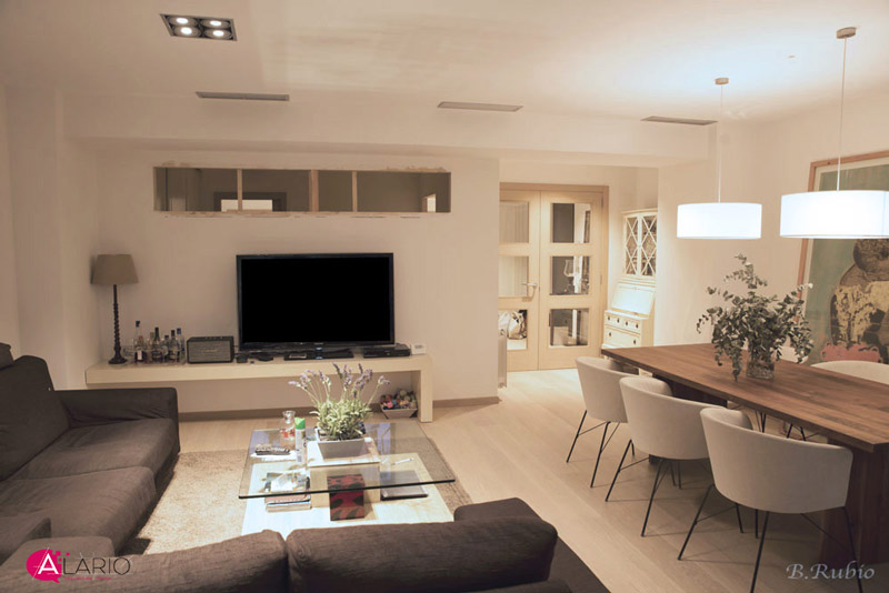 Reforma de vivienda de lujo en Valencia | Salón terminado
