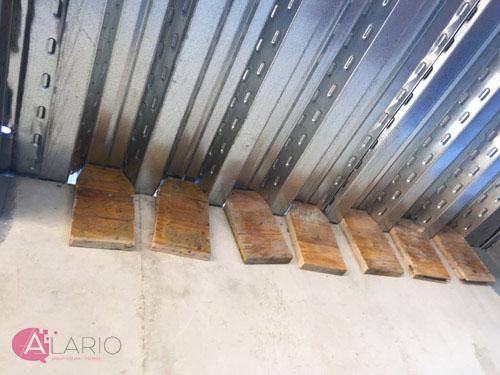Tapas para evitar la pérdida de hormigón en forjados de chapa colaborante
