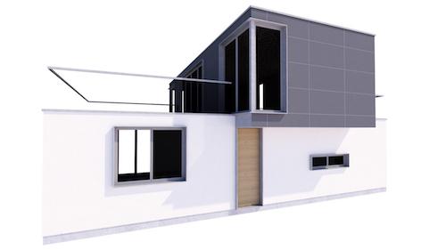 Vivienda unifamiliar construida con ISO Containers en Picassent